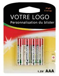 Impression sur blister personnalisé pour vos piles et batteries